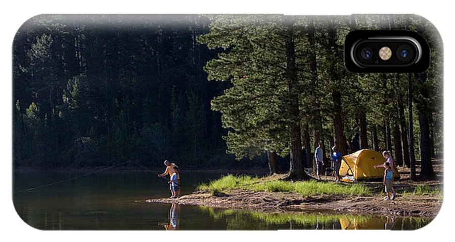 Tent IPhone X Case featuring the photograph Multi-generational Family On Camping by Air Images