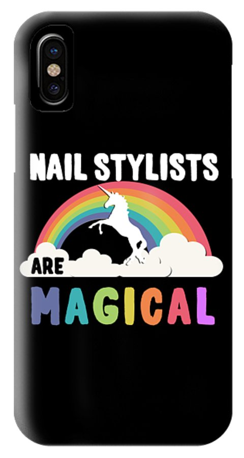 Unicorn IPhone X Case featuring the digital art Nail Stylists Are Magical by Flippin Sweet Gear