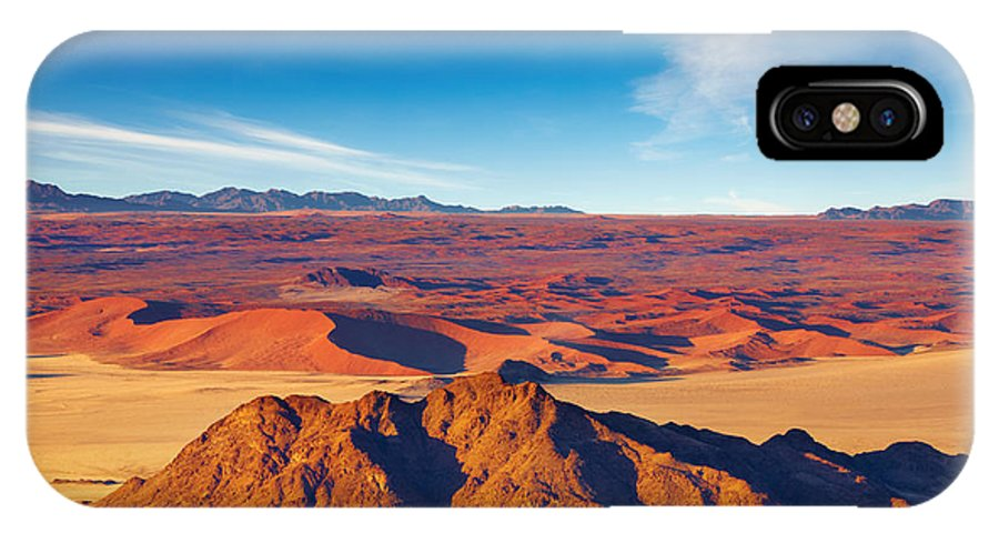 Heat IPhone X Case featuring the photograph Namib Desert, Dunes Of Sossusvlei by Dmitry Pichugin