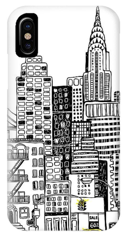 Shop IPhone X Case featuring the digital art New York by Artnlera