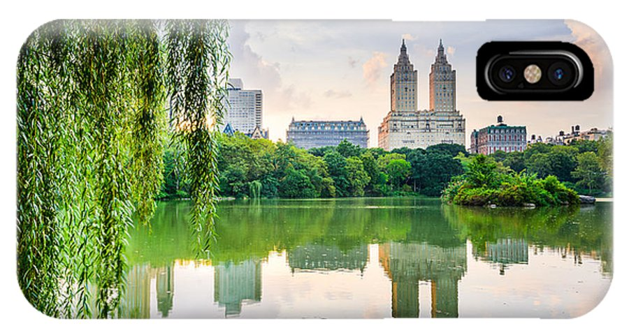 Usa IPhone X Case featuring the photograph New York City, Usa At The Central Park by Sean Pavone