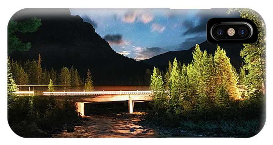 Landscape IPhone X Case featuring the photograph Night Lights by Mogli Maureal