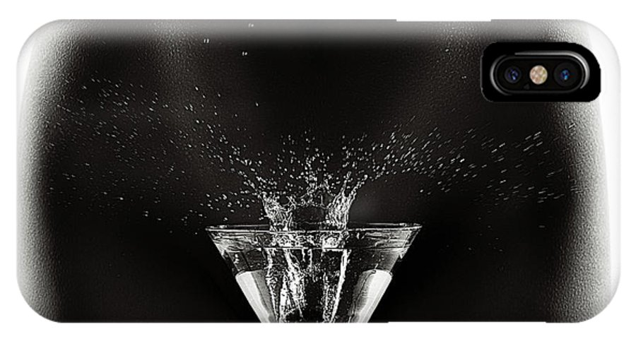 Woman IPhone X Case featuring the photograph Nude Woman With Martini Splash by Johan Swanepoel