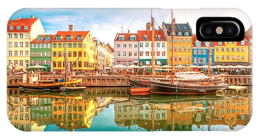 Capital IPhone X Case featuring the photograph Nyhavn, Kopenhagen by Lamiafotografia