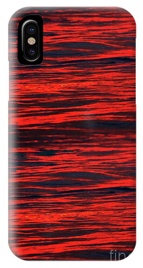 Abstract IPhone X Case featuring the photograph Ocean Abstract by Tony Cordoza