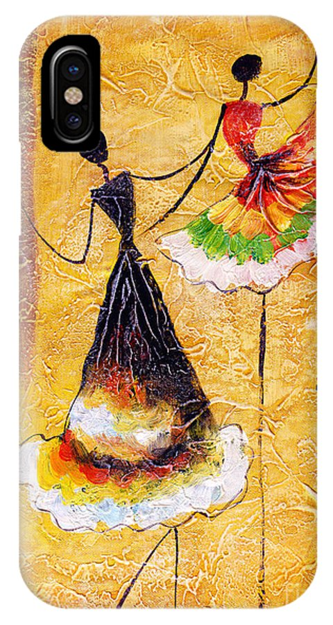 Small IPhone X Case featuring the digital art Oil Painting - Spanish Dance by Cyc