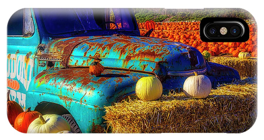 Old Rodoni Farm Truck IPhone X Case featuring the photograph Old Rodoni Farm Truck by Garry Gay