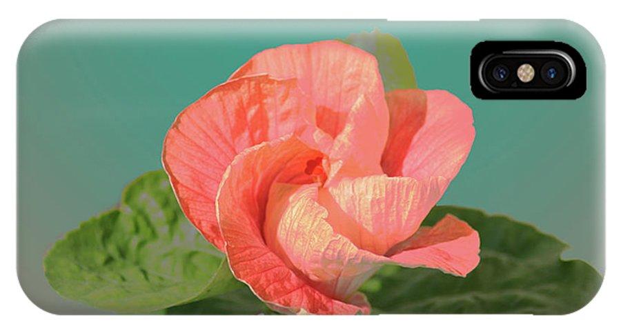 Flower IPhone X Case featuring the digital art Opening by Steve Karol