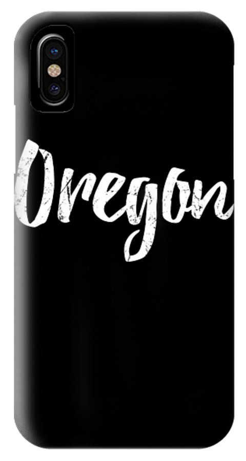 Cool IPhone X Case featuring the digital art Oregon by Flippin Sweet Gear