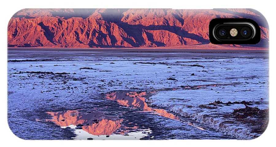 California IPhone X Case featuring the photograph Panamint Reflection 2 by Tom Daniel