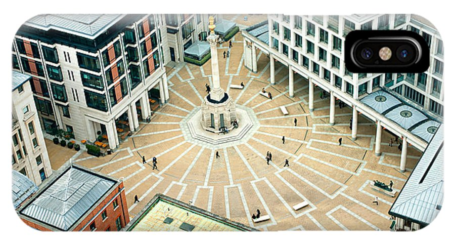 London IPhone X Case featuring the photograph Paternoster Square, London. It Is An by Luciano Mortula - Lgm