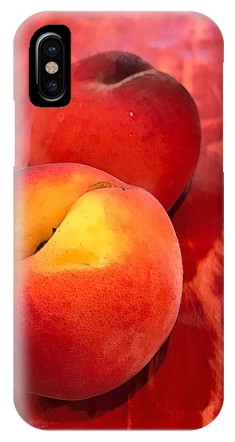 IPhone X Case featuring the digital art Peachy by Cindy Greenstein