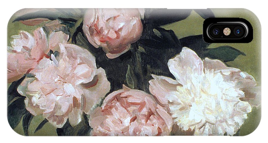 Peonies IPhone X Case featuring the painting Peonies Front And Center by Robert Holden