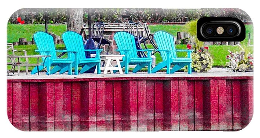 Landscape IPhone X Case featuring the photograph Pick A Seat by Jennifer Loncz