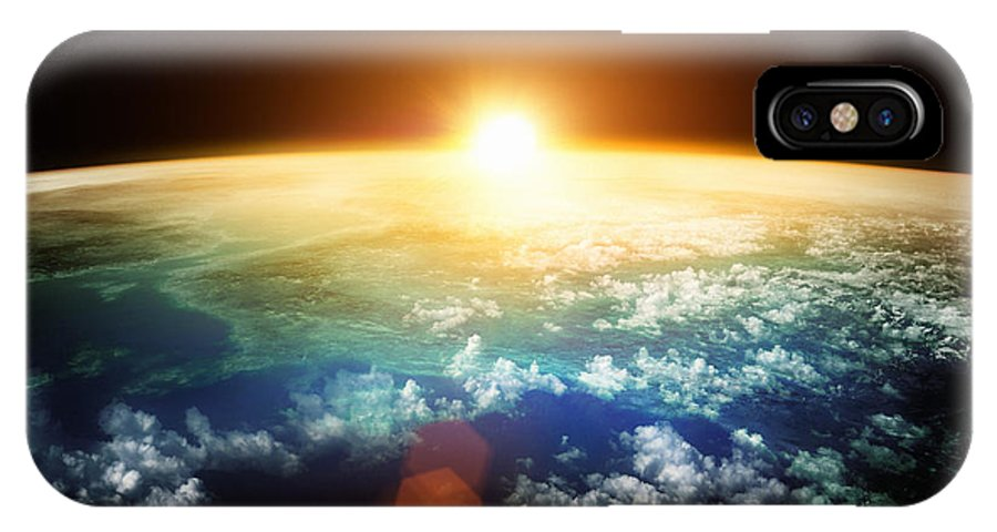 Sunrise IPhone X Case featuring the photograph Planet Earth With A Spectacular Sunset by Solarseven
