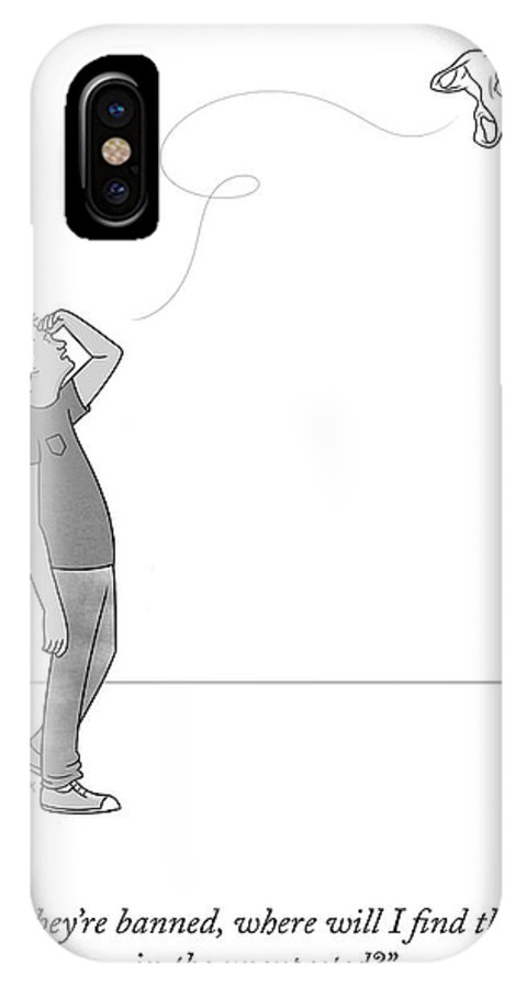 But IPhone X Case featuring the drawing Poetry In The Unexpected by Lila Ash