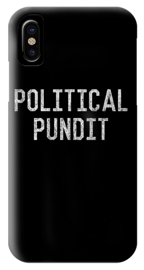 Cool IPhone X Case featuring the digital art Political Pundit Vintage by Flippin Sweet Gear