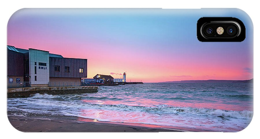 Scarborough IPhone X Case featuring the mixed media Rnli Scarborough by Smart Aviation
