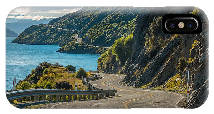 Glenorchy IPhone X Case featuring the photograph Road Along Lake Wakatipu, Queenstown by Naruedom Yaempongsa