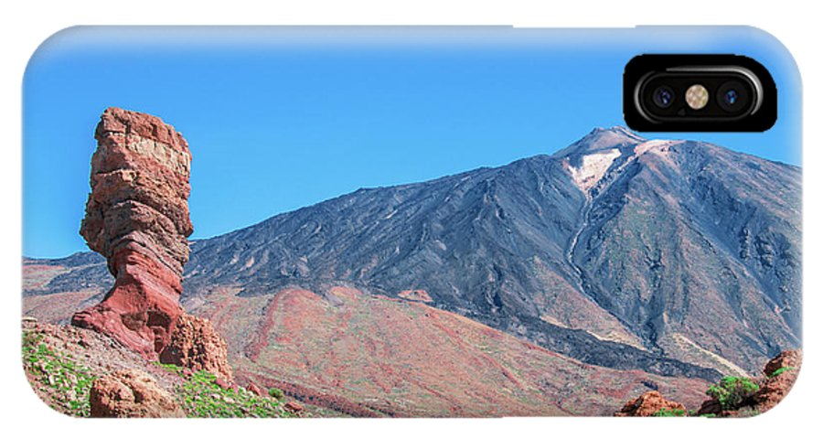 Mountains IPhone X Case featuring the photograph Roque Cinchado In Front Of Mount Teide by Sun Travels
