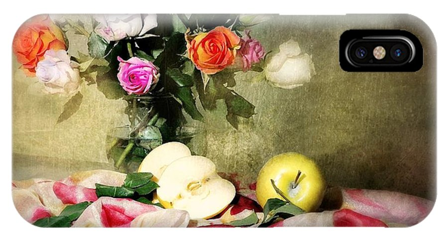 Roses IPhone X Case featuring the photograph Rosy Pallet by Diana Angstadt