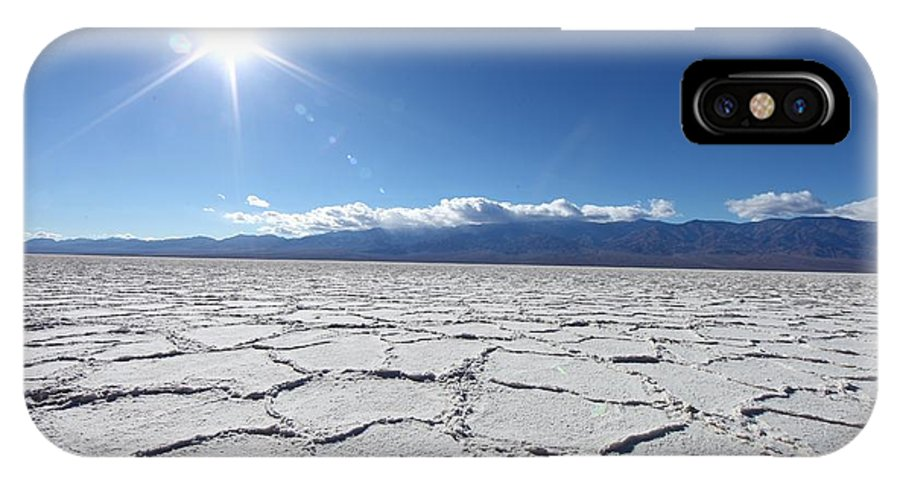 Southwest IPhone X Case featuring the photograph Salt Badwater Formations In Death by Tobkatrina
