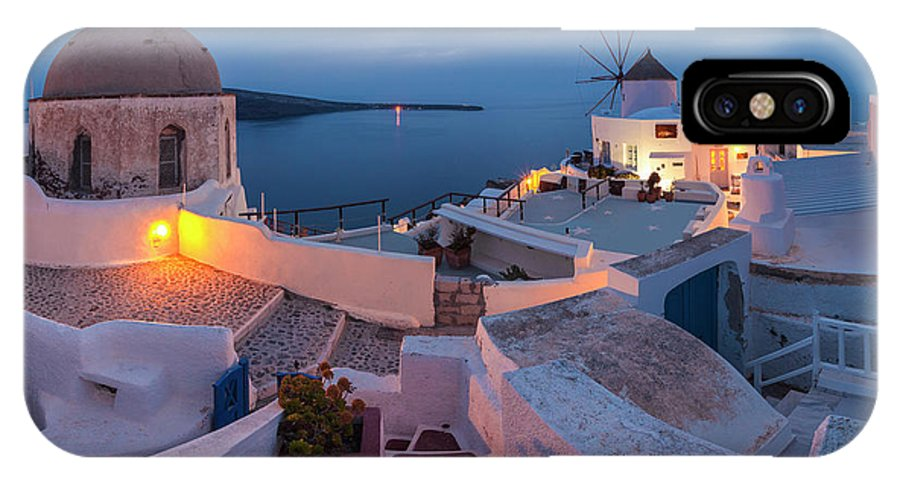 Greece IPhone X Case featuring the photograph Santorini by Evgeni Dinev