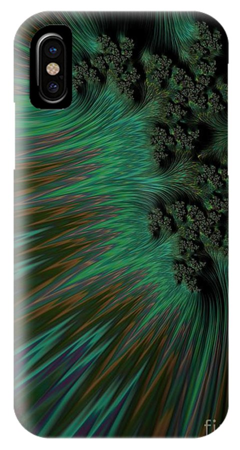 Frax IPhone X Case featuring the photograph Sherwood Forest. by Minnetta Heidbrink
