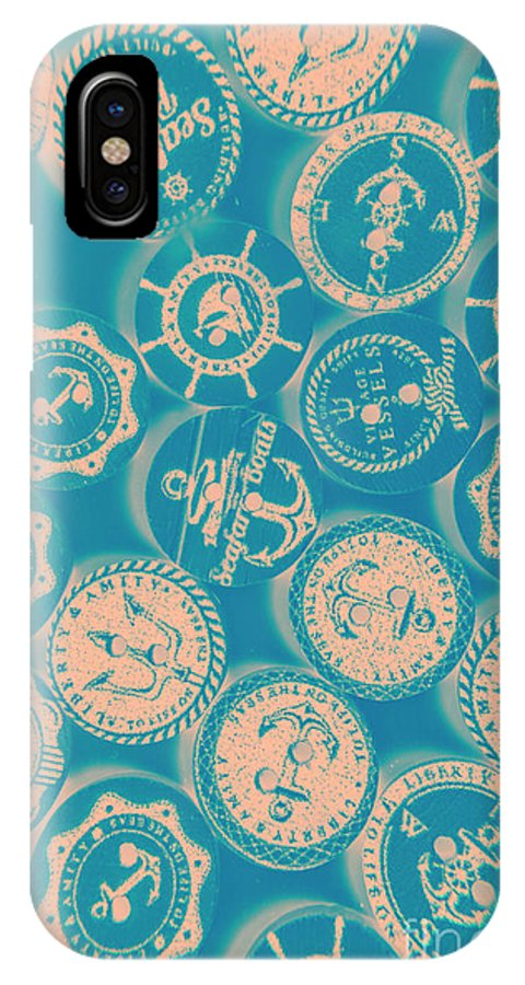 Nautical IPhone X Case featuring the photograph Ship Shape Nautical Designs by Jorgo Photography - Wall Art Gallery