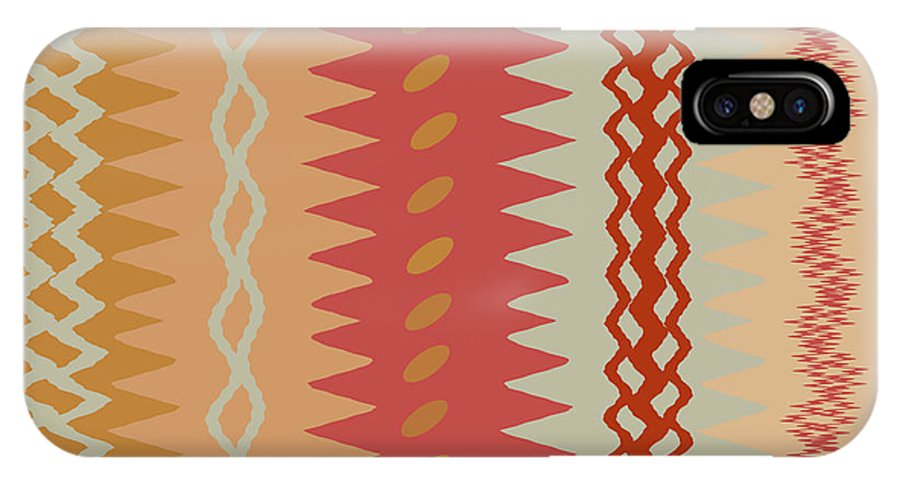 Abstract IPhone X Case featuring the digital art Sienna Peach Abstract by Ruth Palmer