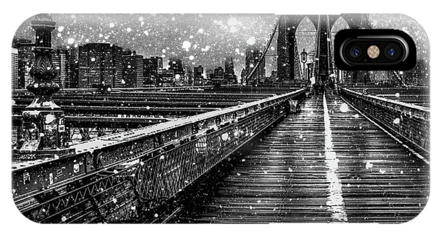 Snow IPhone X Case featuring the digital art Snow Collection Set 05 by Az Jackson