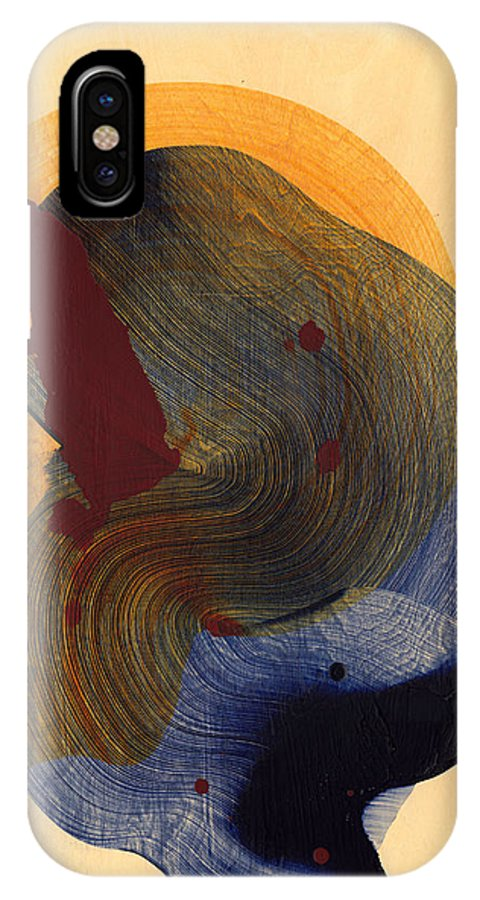 Abstract IPhone X Case featuring the painting Socal 03 by Claire Desjardins