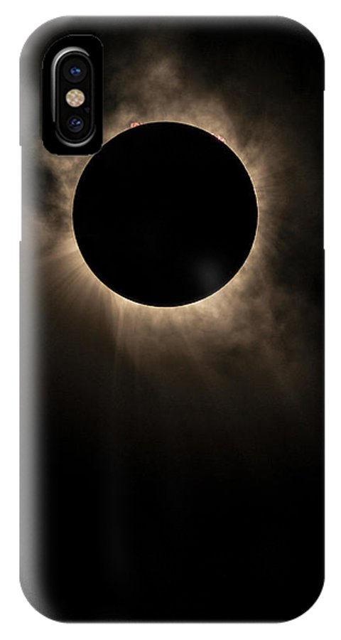 Solar Eclipse IPhone X Case featuring the photograph Solar Eclipse Of 2017 by Randy Lemoine
