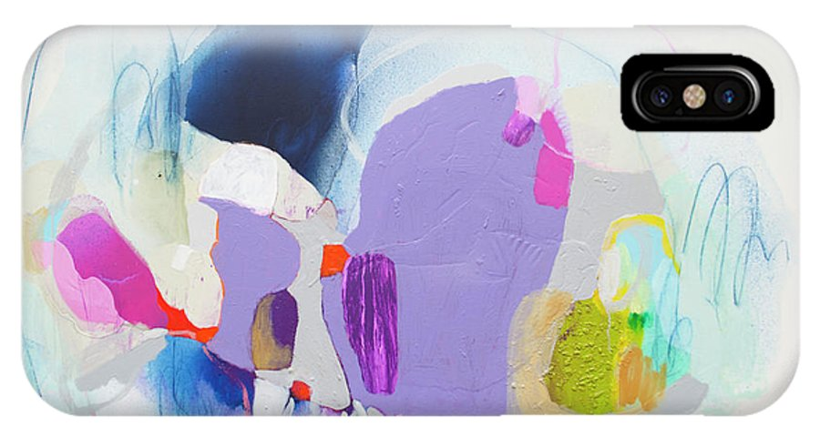 Abstract IPhone X Case featuring the painting Sometime In June by Claire Desjardins
