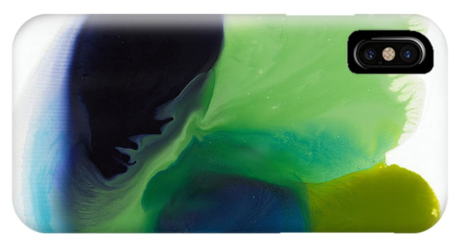 Abstract IPhone X Case featuring the painting Springtime by Claire Desjardins
