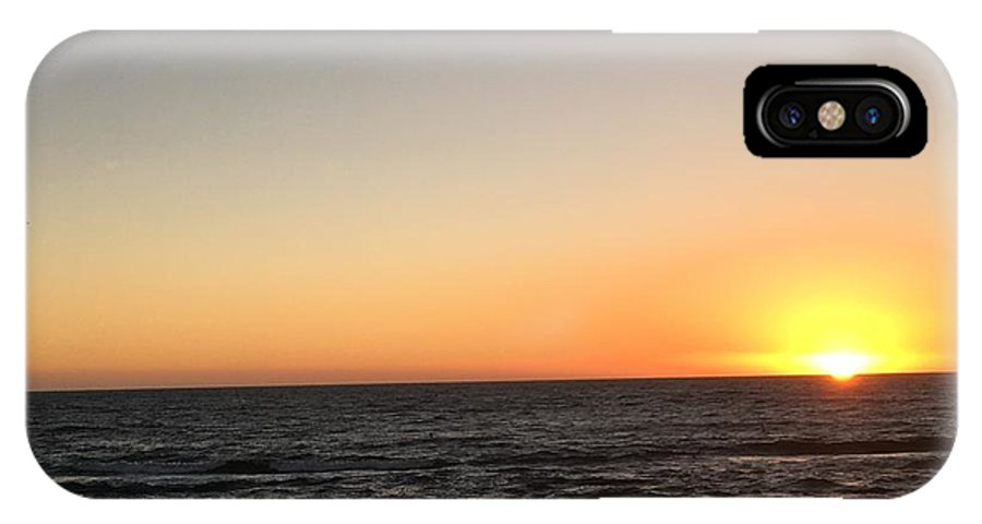 Sunset IPhone X Case featuring the photograph Sunset At The Sea by Epic Luis Art