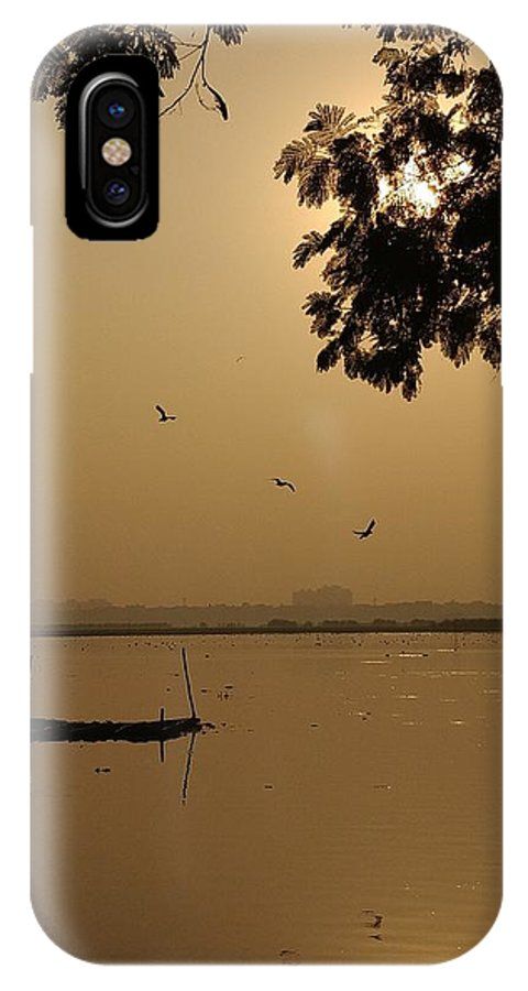 Sunset IPhone X Case featuring the photograph Sunset by Priya Hazra