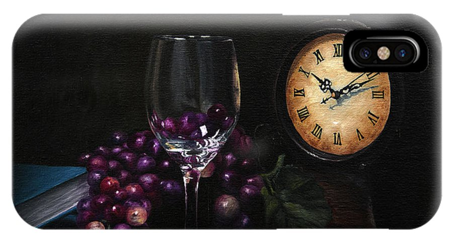 Still Life IPhone X Case featuring the painting Taking Time by Michael Malta