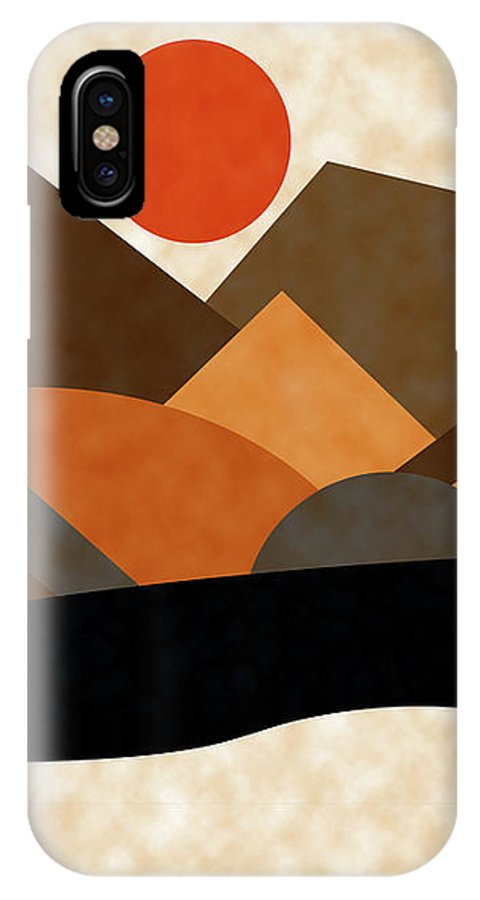 Ruth Palmer IPhone X Case featuring the digital art Tangerine Sun by Ruth Palmer