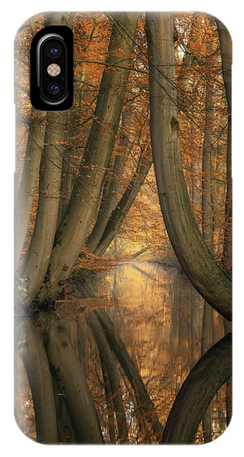 Trees IPhone X Case featuring the photograph The Bent Ones by Martin Podt