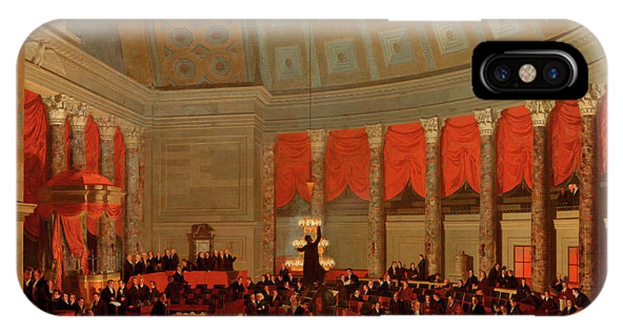 Painting IPhone X Case featuring the painting The House Of Representatives, 1822 by Samuel Finley Breese Morse