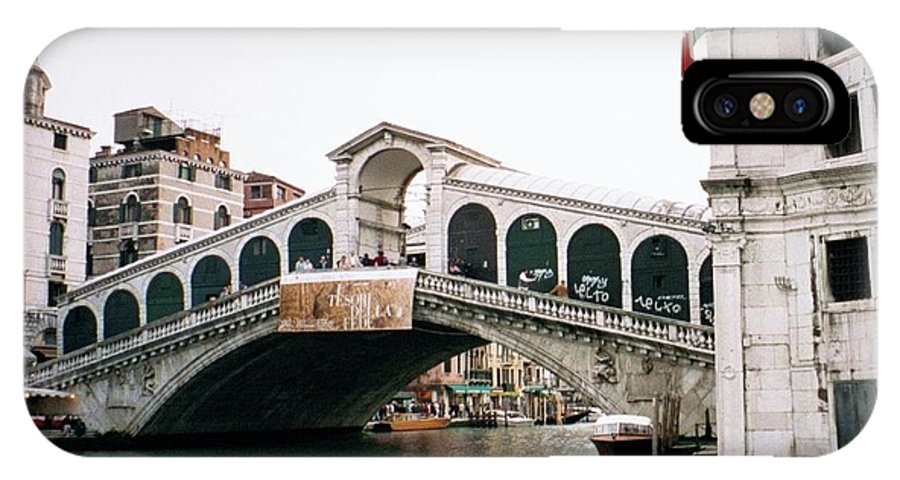 Italy IPhone X Case featuring the photograph The Rialto Bridge by Dick Goodman