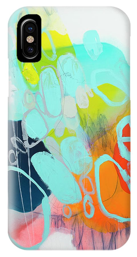 Abstract IPhone X Case featuring the painting The Right Thing by Claire Desjardins