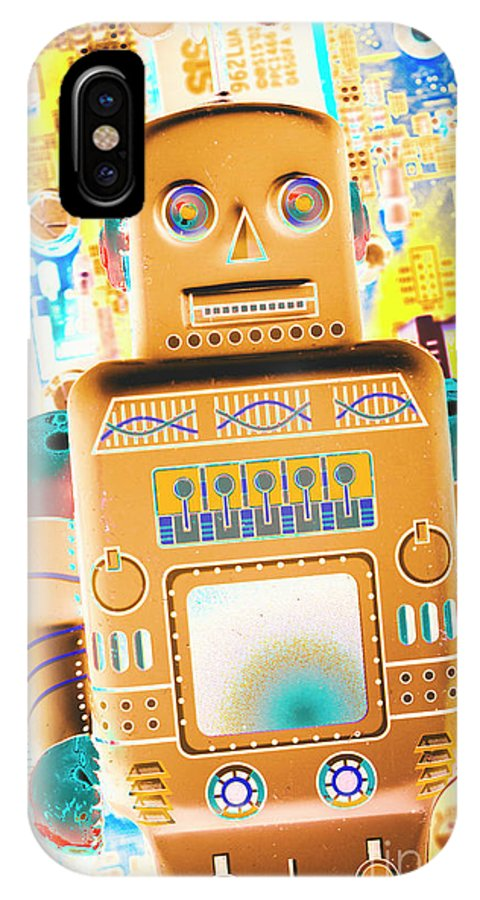 Robotic IPhone X Case featuring the photograph The Transistor Bot by Jorgo Photography - Wall Art Gallery