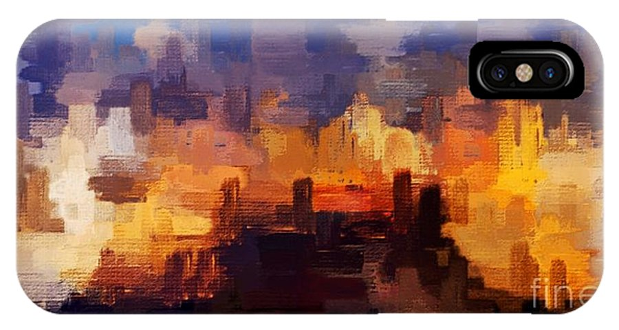 Abstract iPhone X Case featuring the photograph There's An Answer by Eddy Mann
