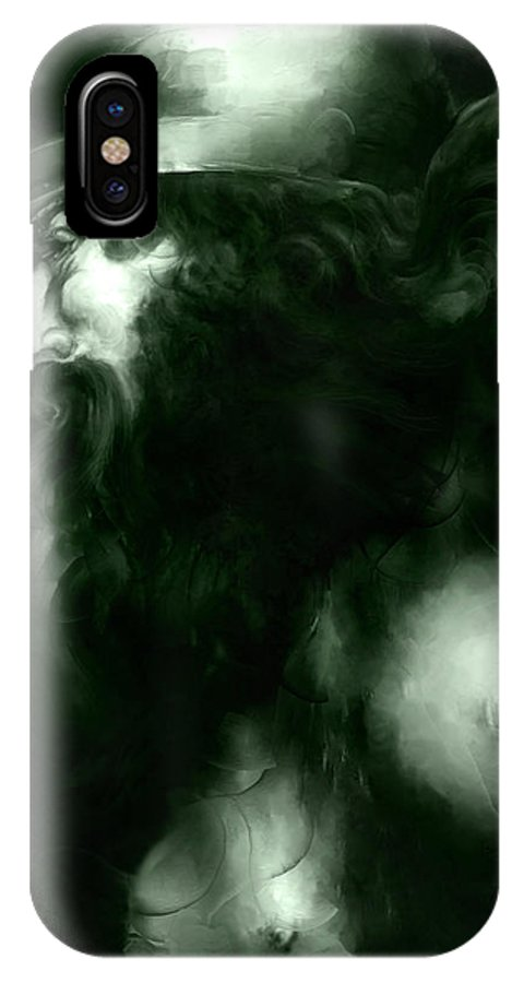 Thor IPhone X Case featuring the mixed media Thor by Curtiss Shaffer