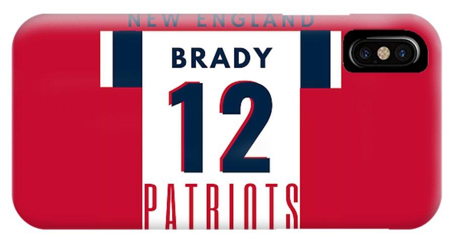 online retailer df626 e3b79 Tom Brady Jersey IPhone X Case