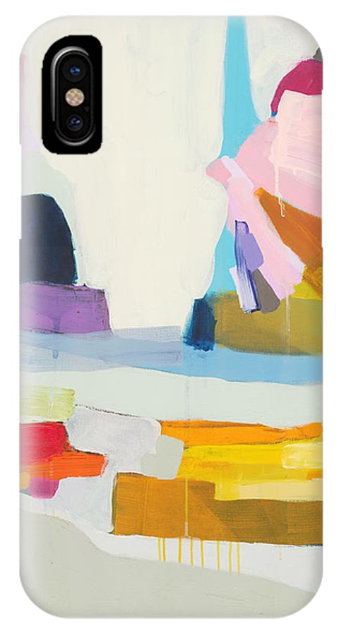 Abstract IPhone X Case featuring the painting Towards The Ocean by Claire Desjardins