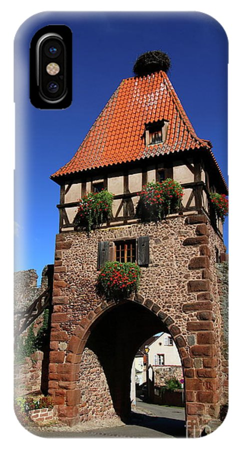 Chatenois IPhone X Case featuring the photograph Towngate Chatenois by Christiane Schulze Art And Photography