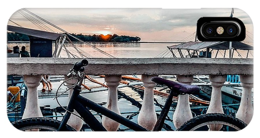 Bike IPhone X Case featuring the photograph Traveller's point by Dynz Abejero